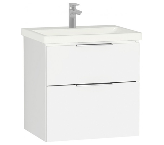 Vitra Ecora Compact 2 Drawer Wall Hung Vanity Unit And Basin