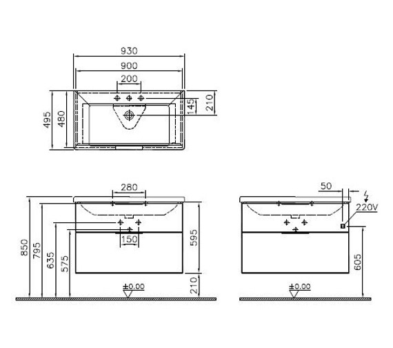 Technical drawing QS-V87194 / 60326