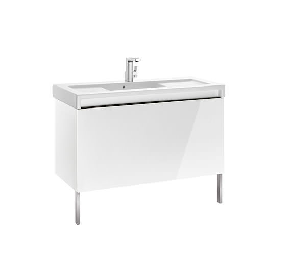 Alternate image of Roca Stratum-N 855 x 503mm 1 Drawer Wall Hung Base Unit Gloss White - Textured Yosemite Finishes Available