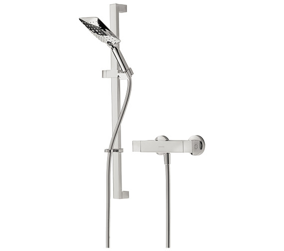 Bristan Vertico Thermostatic Bar Valve With Adjustable Riser And Handset