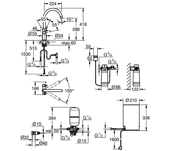 Technical drawing QS-V80760 / 30058001