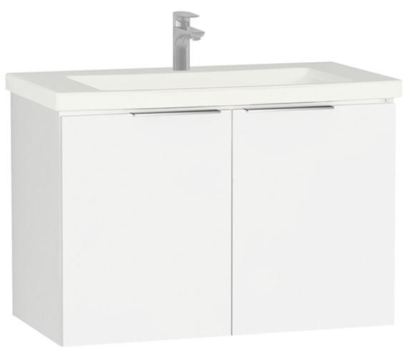 VitrA Ecora 900mm Wall Mounted 2 Door Unit With Washbasin Gloss White