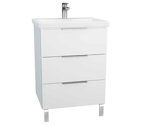 VitrA Ecora 600mm White 3 Drawers Unit With Washbasin