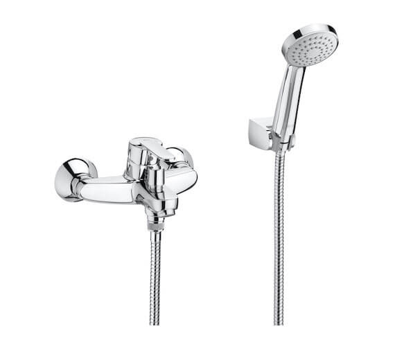 Roca Victoria Wall-Mounted Bath Shower Mixer Tap With Handset And Hose