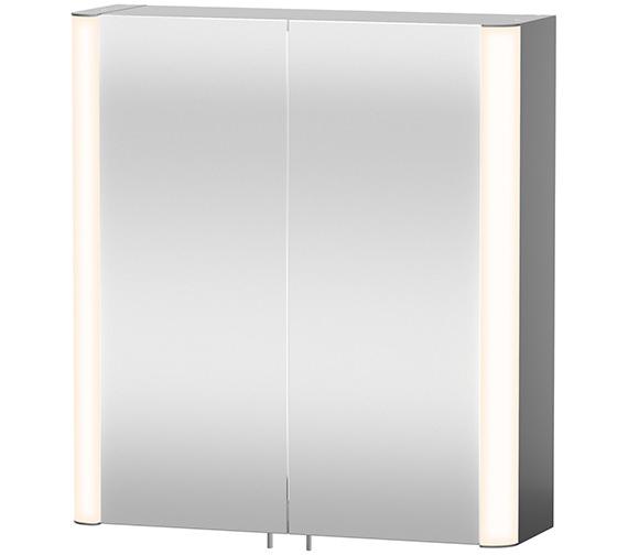 Duravit Aluminium White 600mm Mirror Cabinet