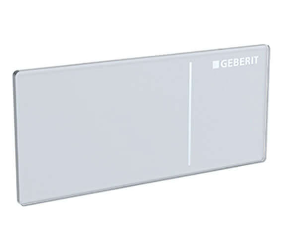 Geberit Omega70 White Glass Dual Flush Actuator For Solid Wall