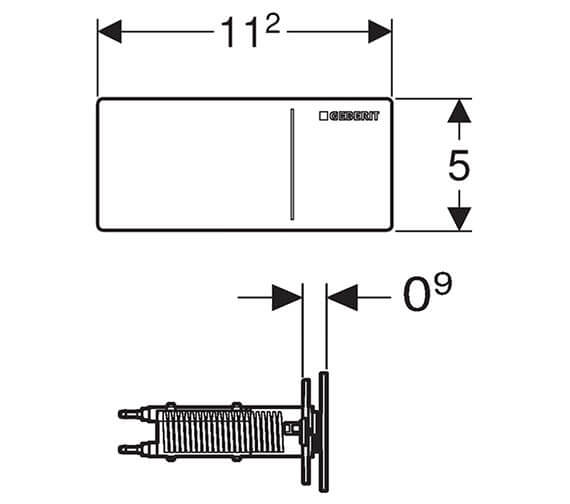 Technical drawing QS-V93540 / 115.090.SI.1
