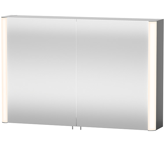 Duravit aluminium white 1000mm mirror cabinet for Bathroom mirror cabinets 900mm and 1000mm