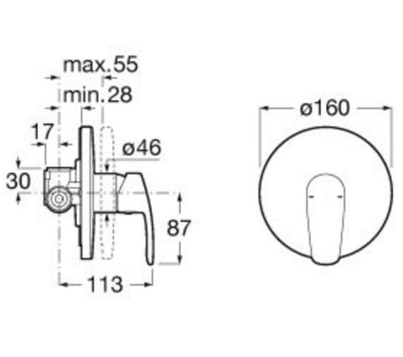 Technical drawing QS-V93033 / 5A2298C00