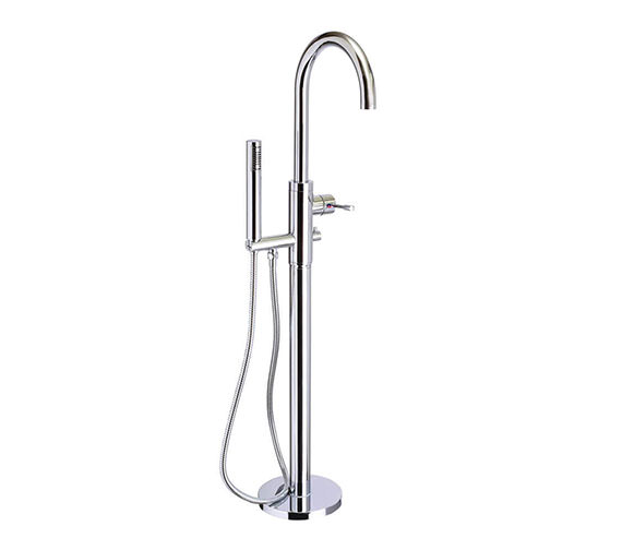 Mayfair Series F Curved Floorstanding Bath Shower Mixer Tap With Kit