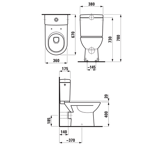 Technical drawing QS-V41957 / 24956WH