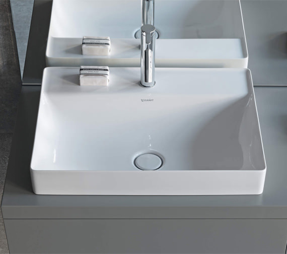 Duravit DuraSquare 600mm Above Counter Basin Without Tap Hole