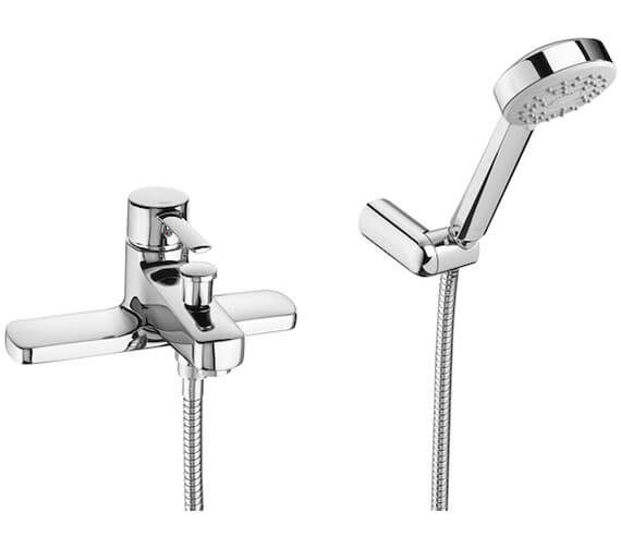 Roca Targa Deck-Mounted Bath-Shower Mixer Tap With Kit