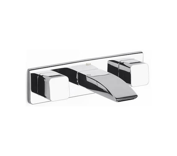 Roca Thesis Wall-Mounted 3 Hole Dual Control Basin Mixer Tap