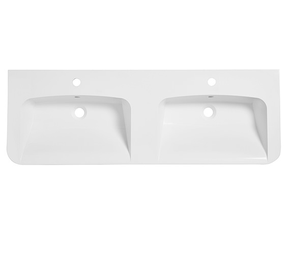 Roper Rhodes System 1200mm White Isocast Double Basin