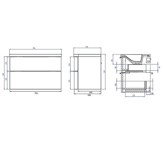 Technical drawing QS-V4826 / SYS800D.GW
