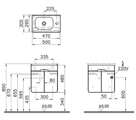 Technical drawing QS-V90471 / 58128