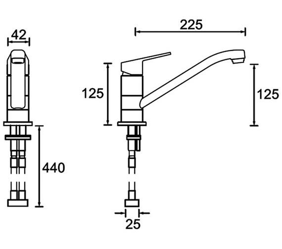 Technical drawing QS-V79157 / CNN EFSNK C TO