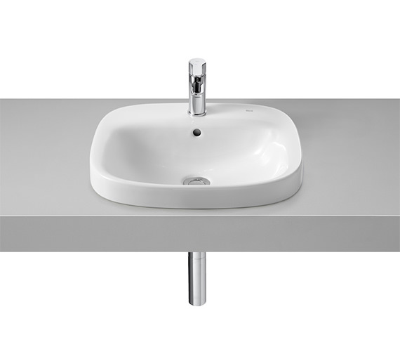 Roca Debba 500 x 410mm In-countertop Basin With 1 Taphole
