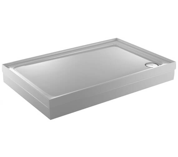 Additional image of Just Trays JTFusion White Rectangular Flat Top Shower Tray With Waste