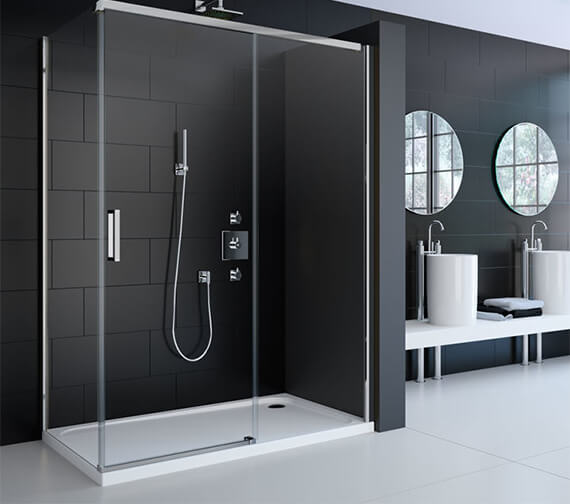 Merlyn 8 Series Frame-less 8mm Glass Sliding Shower Door