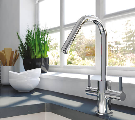 Bristan Cashew Chrome Kitchen Sink Mixer Tap With EasyFit Base