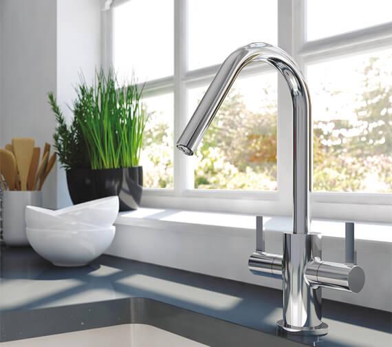 Bristan Cashew Chrome Kitchen Sink Mixer Tap With EasyFit Base