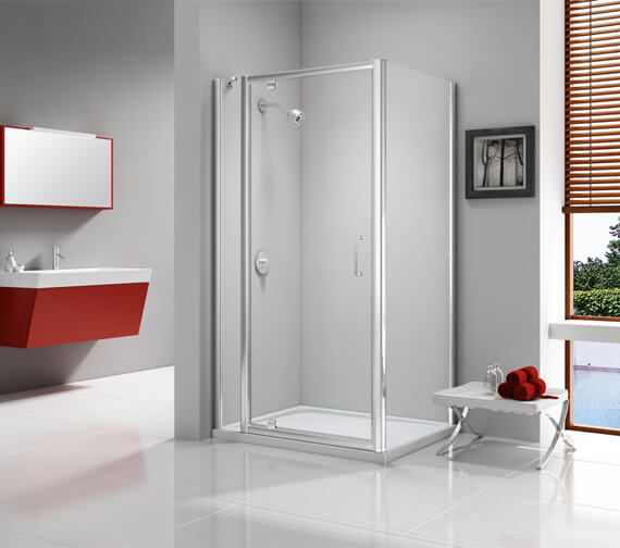 Additional image of Merlyn Ionic Express 6mm Glass Pivot Shower Door 1900mm Height