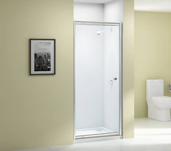 Merlyn Ionic Source 6mm Glass Pivot Shower Door 1850mm Height