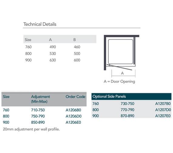 Technical drawing QS-V99524 / A1206B0