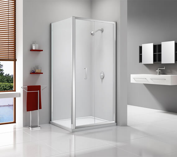 Additional image of Merlyn Ionic Express 6mm Glass Bi-Fold Shower Door 1900mm Height