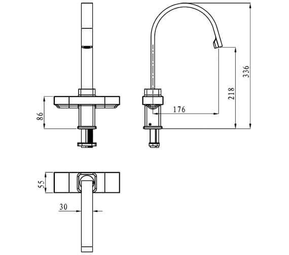 Technical drawing QS-V6920 / CHO EFSNK C
