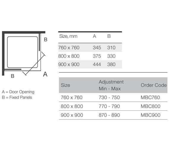 Technical drawing QS-V9360 / MBC760
