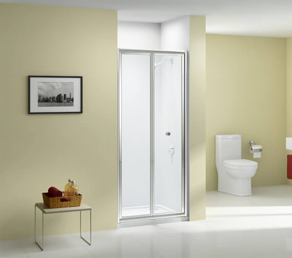 Merlyn Ionic Source 4mm Glass Bi-Fold Shower Door 900 x 1850mm