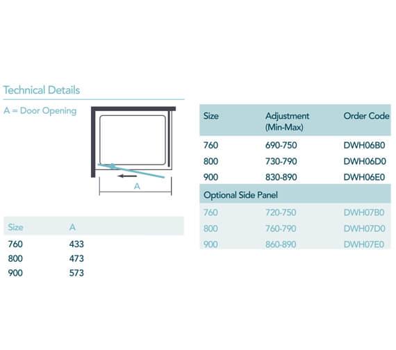 Technical drawing QS-V99527 / DWH06B0