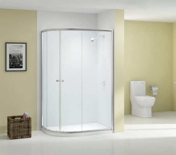 Merlyn Ionic Source 2 Door Offset Quadrant Shower Enclosure 1850mm Height