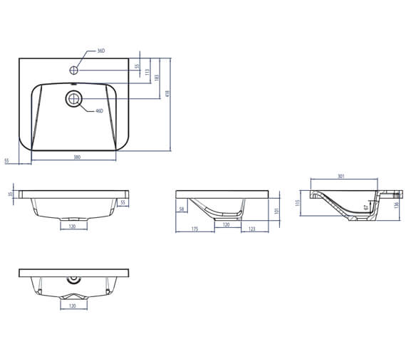 Technical drawing QS-V4820 / SYS500IS
