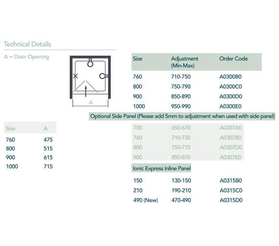 Technical drawing QS-V99522 / A0300B0