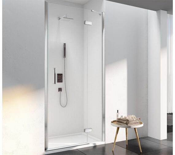 Merlyn 6 Series Recess Frame-less Inline Hinged Shower Door 2000mm Height