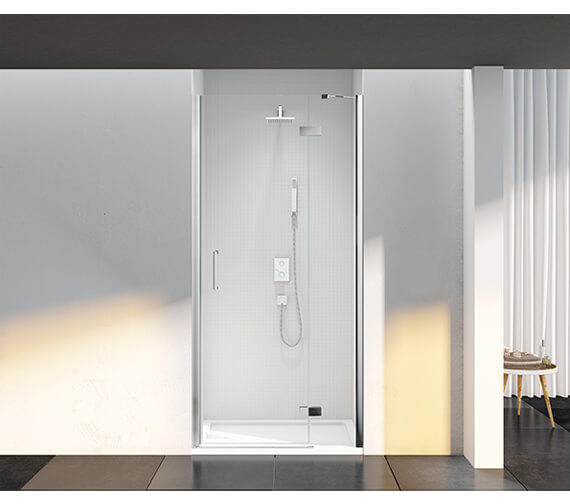 Additional image of Merlyn 6 Series Recess Frameless Inline Hinged Shower Door 2000mm Height