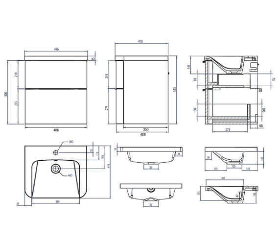 Technical drawing QS-V4818 / SYS500D.GW
