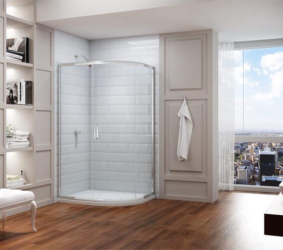 Merlyn 8 Series 1200 x 900mm 1 Door Offset Quadrant Enclosure - M83241