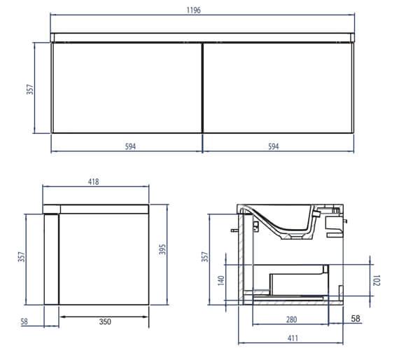 Technical drawing QS-V4827 / SYS1200S.GW