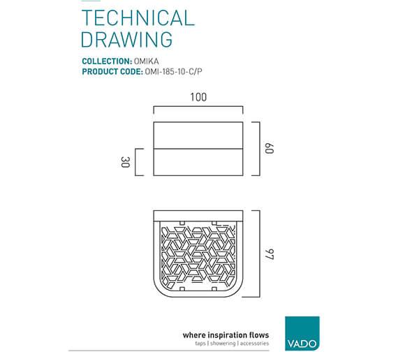 Technical drawing QS-V95345 / OMI-185-10-C/P