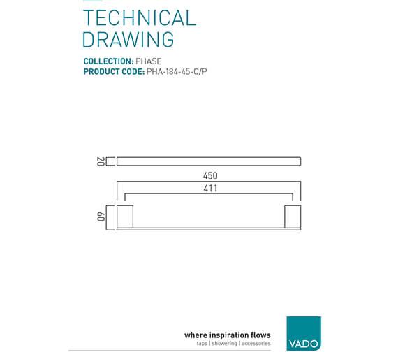 Technical drawing QS-V95351 / PHA-184-45-C/P