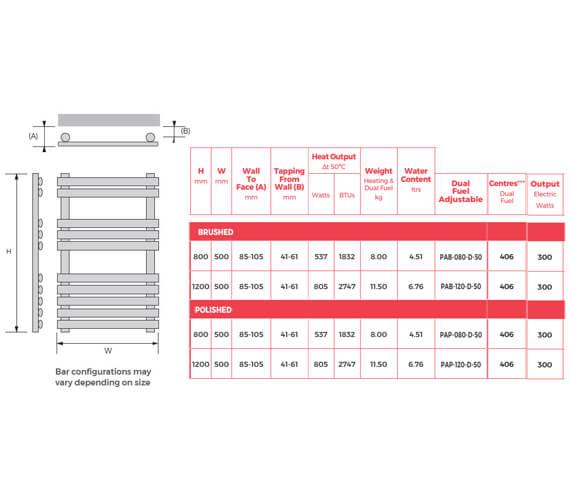 Technical drawing QS-V93101 / PAB-080-D-50
