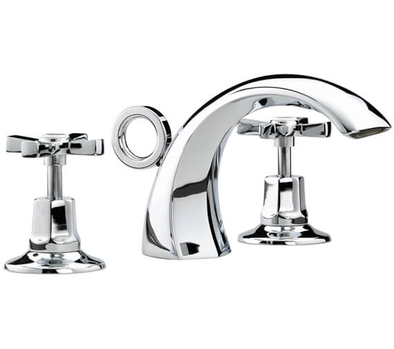 Bristan Art Deco Chrome 3 Hole Basin Mixer Tap