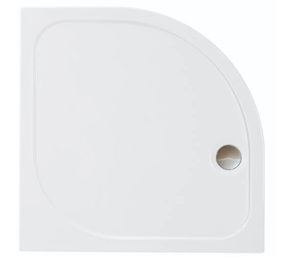 Merlyn Ionic Mstone Quadrant 50mm Shower Tray With Waste