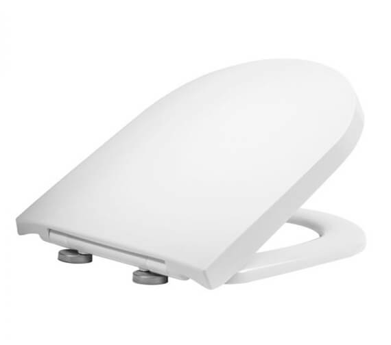 Tavistock Delta D-Shaped Toilet Seat With Soft Close Hinges