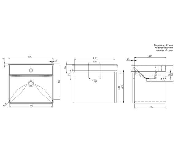 Technical drawing QS-V16522 / CM500WW